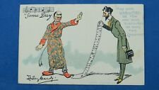Vintage Dudley Hardy Christmas Comic Song Postcard 1900s SOME DAY