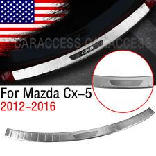 Outer Rear Guard Sill Trunk Bumper Protector Panel Cover For 2012-16 Mazda Cx-5