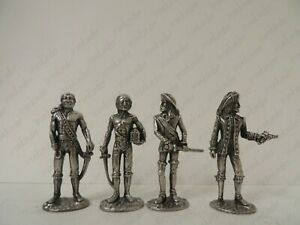 Metal soldiers Pirates bronze silvering collectible miniature figure 40mm