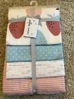 CARTER'S 4 pack Receiving Blankets Pink Blue Berries Stripes Polka Dots NWT