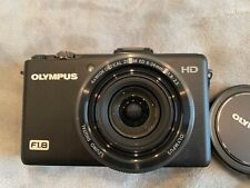 Olympus Stylus XZ-1 10.0MP Digital Camera - Black (XZ1) with charger and strap