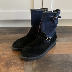 Two Thousand Never x Patrick Winget Boots Blue & Black Suede, Size 9