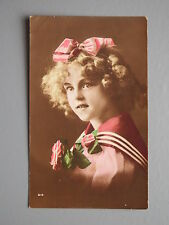 R&L Postcard: 1920's Fashion Clothes, Portrait of Young girl, Tinted