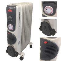 M L XL 2000-2500 Watt Oil HEAters 9 11 13 Fins With Timer Turbo Fan Radiator