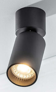 CGC Black Round Surface Mount Spotlight Adjustable Head GU10 Ceiling Downlight
