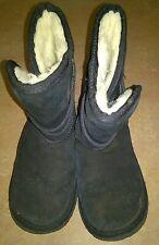 Ukala Australia UKK80013 TAJ Low Kids Girls Black Suede Boots Size K/E13 USA