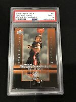 2003 Upper Deck Rookie Exclusives #5 Dwayne Wade RC PSA 9 HOF 3x🏆