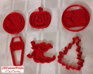 3D Printed Nightmare Before Christmas Inspired Cookie Cutters