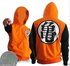 Dragon Ball Z Goku Kame Symbol Black Orange Zip-Up Adult Hoodie