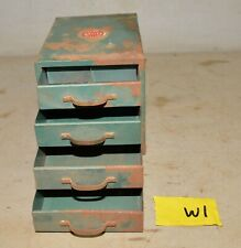 Vintage industrial small metal four drawer parts cabinet Wards Master Quality W1