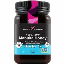 Wedderspoon 100% crudo miele di Manuka fattore K 12+ 500 G