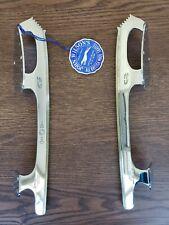 "Vintage Unsharpened Ice Skating Blades - John Wilson Gold Seal (Size 10"")"