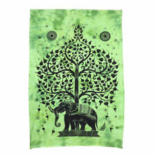 Tree With Elephant Style Wall Hanging Cotton Poster Print Home Decor Poster