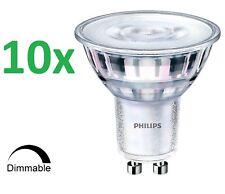 10x Philips Master Faretto Led GU10 3,7 -35w 3000K Dimmerabile Angolo: 36 Gradi