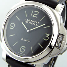 UNWORN PANERAI PAM 560 44 mm LUMINOR BASE 8 DAYS ACCIAIO BLACK DIAL PAM 00560