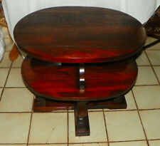Dark Pine Old Tavern Oval End Table / Side Table  (T657)