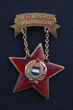 Rare Hungary Medal Excellent Public Transportation Worker Communist Soviet Train
