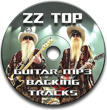 ZZ TOP STYLE MP3 ROCK GUITAR BACKING JAM TRACKS CD LIBRARY ANTHOLOGY
