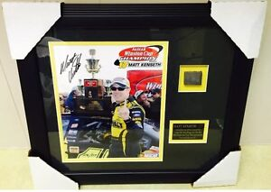 MATT KENSETH Signed Framed Photo Tire 2003 Winston Cup Championship Autograph