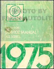 1975 Buick Shop Manual Riviera LeSabre Electra Regal Century Skyhawk Apollo 75
