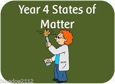 KS2 Y4 Science topic STATES OF MATTER teaching resources IWB display printables