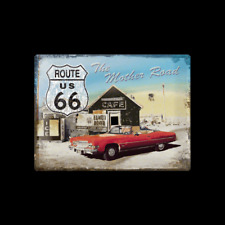 Metal Sign Route 66 The Mother Road (car) (40 x 30)