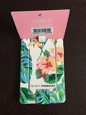 Bando Ban.do + Starbucks  Luggage Tag Limited Edition Flower / Leaves (No card)