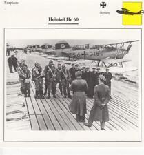 D10754307  Warplane Collectors Card. German Seaplane. Heinkel He 60