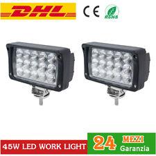 2x 45W LED LUCE Faro Da Lavoro Work Light Fari trattore LAVORO FARETTO 12V 24V