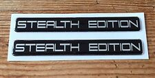 2 x STEALTH EDITION Chrome Stickers/Decals - HIGH GLOSS DOMED GEL FINISH