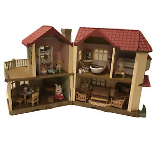 LOT Calico Critters Red Roof Country Home Furniture Accessories 5 Critters