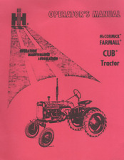 International Farmall Cub Operator's Manual 1958-64