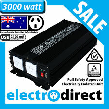 3000W (5000 watt max) Power Inverter 12-240V M Sine Wave Laptop Charger Car Boat