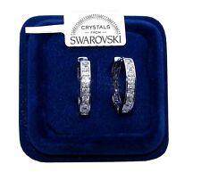 Orecchini da donna oro bianco 18K zirconi cristalli swarovski veri SW4/1 bianchi