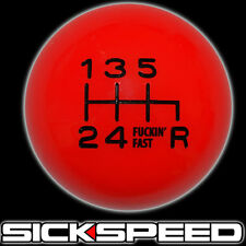 RED/BLACK FING FAST SHIFT KNOB FOR 6 RDR SPEED SHORT THROW SHIFTER 10X1.5 K12