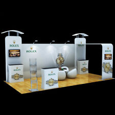 20ft trade show booth pop up display exhibition Kits podium TV bracket Lights