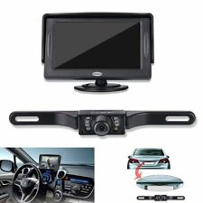 Backup Camera and Monitor Kit For Car,Universal Wired Waterproof Rear-view Plate