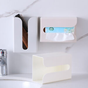 1 Pcs Portable Wall Mounted Toilet Kitchen Tissue Box Paper Holder For Home Tool