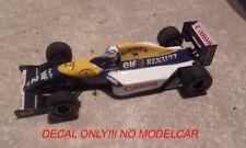 decal Tobacco Williams FW15 1993 Prost Worldchampion edition Minichamps 1/43