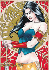 Grimm Fairy Tales 2016 SDCC Sketch Card Samantha Johnson of Sela Mathers DE 2/3
