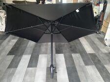 Black Garden Patio Parasol Umbrella Metal Frame 1.9M Sun Shade