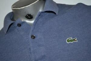 19693-a Mens LACOSTE Polo Shirt Size Medium or EUR 5 Blue