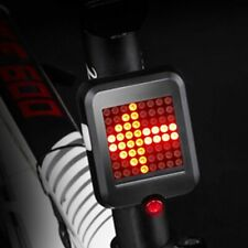 USB Rechargeable LED Tail Light Automatic Turn Signal Brake Lamp Bike Bicycle