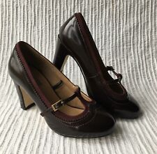 Womens Shoes Fiore Size 3 Burgandy Maroon