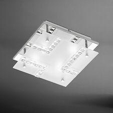 WOFI lámpara LED de techo BOIS 4 Lámparas Cromo Vidrio 12 vatios 1120 luz 25x25