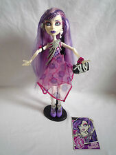 MONSTER HIGH DOLL / SPECTRA VONDERGIEST 1ST WAVE WITH STAND / CARD & HANDBAG