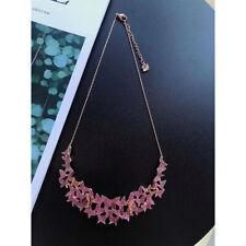 Swarovski Rose Gold-Plated Pink Swarovski Crystal Butterfly Necklace