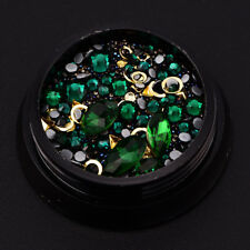 Nail Art Rhinestones 3D Mix Glitters Coloful Acrylic Manicure DIY Tips Stickers