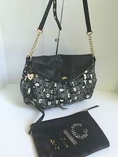 Juicy Couture Bag Black Shoulder Crossbody With Pouch  B2
