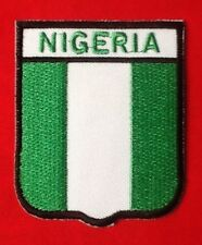 NIGERIA NIGERIAN AFRICAN NATIONAL COUNTRY FLAG BADGE IRON SEW ON PATCH CREST